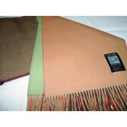 Хлопковый плед INCALPACA оранжевый с зеленым 170x210