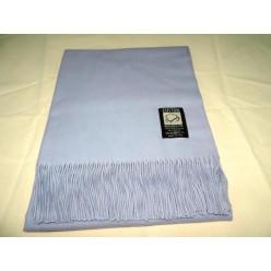 Хлопковый плед INCALPACA серо голубой с бахромой