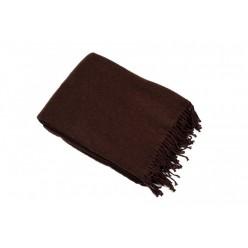 Плед шерсть мериноса коричневый 100% шерсть