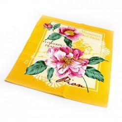Набор вафельных полотенец на кухню из хлопка 2 шт желтые с цветами