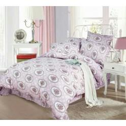 Комплект постельного белья сиреневый с орнаментом