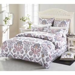 Комплект постельного белья белый с орнаментом