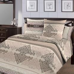 Комплект постельного белья Бязь ГОСТ бежевый с орнаментом