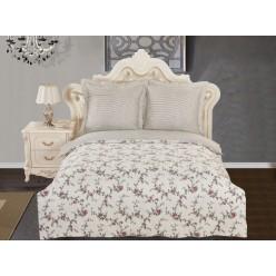 Комплект постельного белья сатин кремовый с орнаментом