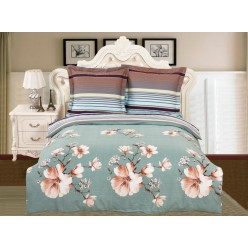 Комплект постельного белья сатин дымчато голубой