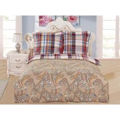 Комплект постельного белья сатин бежевый с орнаментом