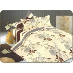 Комплект постельного белья сатин бежевый с одуванчиками