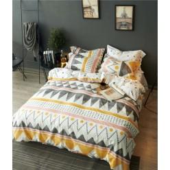 Детский комплект постельного белья  сатин кремовый с орнаментом