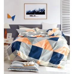 Детский комплект постельного белья сатин с принтом геометрия