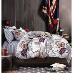 Детское постельное белье двустороннее из сатина белое