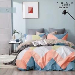Детское сатиновое постельное белье двустороннее персиковое