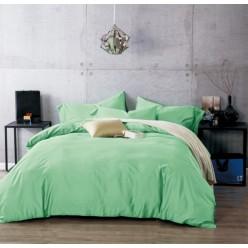 Комплект постельного белья сатин однотонный зеленый