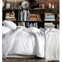 Комплект постельного белья однотонный сатин кипельно белый