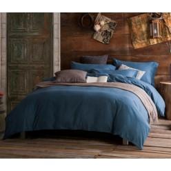 Комплект постельного белья софткоттон однотонный дымчато синий