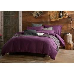 Комплект постельного белья софткоттон однотонный фиолетовый