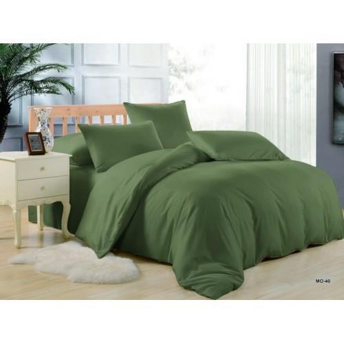 Комплект постельного белья однотонный зеленый