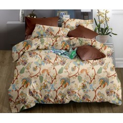 Комплект постельного белья бежевый с орнаментом