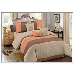Комплект постельного белья бежевый в широкую полоску