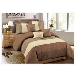 Комплект постельного белья коричневый в широкую полоску
