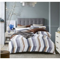 Семейное постельное белье софткоттон печатный белое в полоску