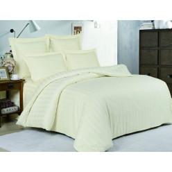 Комплект постельного белья сатин однотонный кремовый