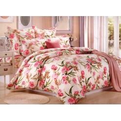Комплект постельного белья сатин бежевый с розами