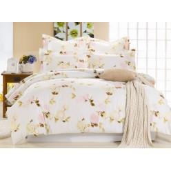 Комплект постельного белья сатин кремовый с нежными розами