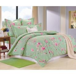 Комплект постельного белья сатин зеленый