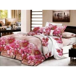 Комплект постельного белья бежевый с яркими цветами
