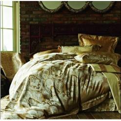 Постельное белье из премиум сатина коричневое с орнаментом