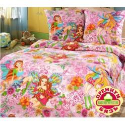 Детское постельное белье для девочек принцесса бабочка
