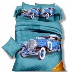 Детское постельное белье для мальчиков ретро автомобиль
