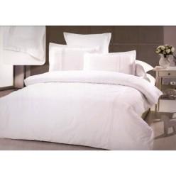 Однотонное постельное белье сатин белое