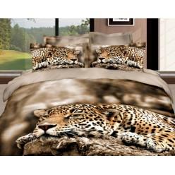 Постельное белье сатин 3D Леопард