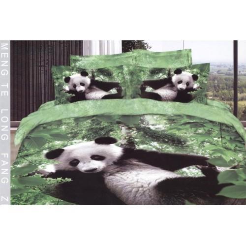 Постельное белье сатин 3D Панда