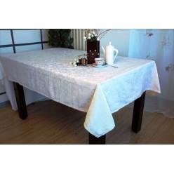 Скатерть кухонная прямоугольная полиэстер зеленая