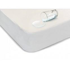 Простынь водонепроницаемая на резинке из хлопка белая